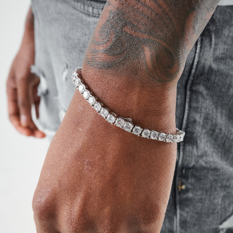5MM TENNIS BRACELET - WHITE GOLD