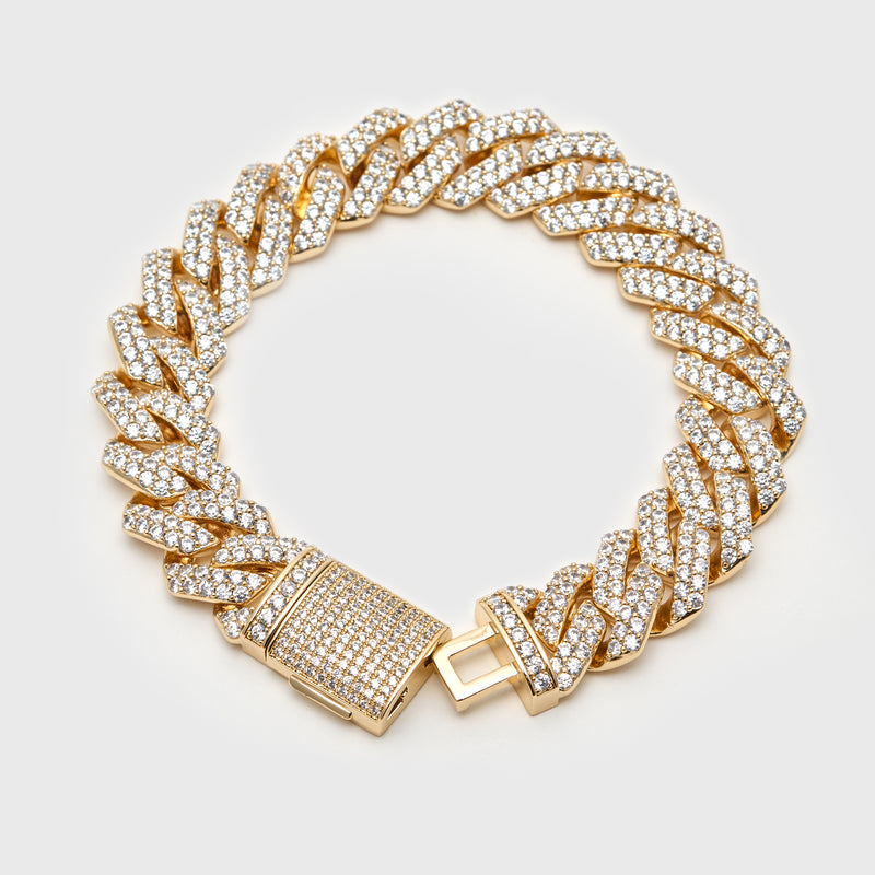 14MM PRONG BRACELET - GOLD
