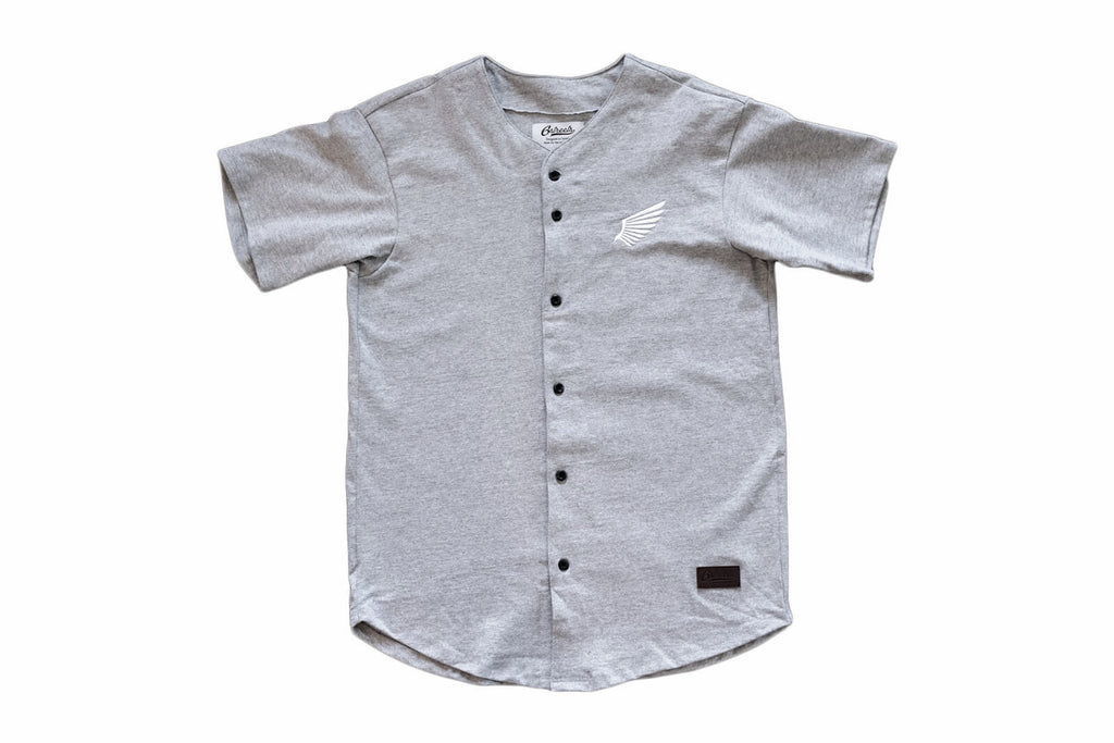 Flight Baseball Jersey - Heather Grey