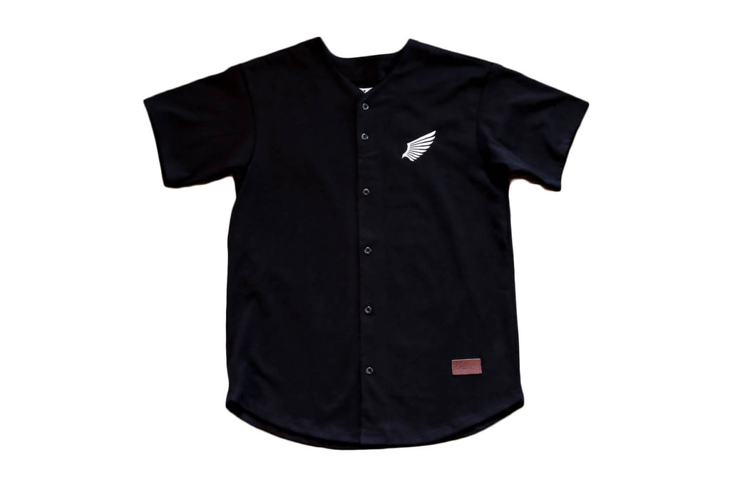 Flight Baseball Jersey - Black