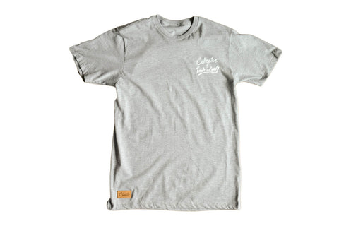 Collective Script Tee - Heather Grey