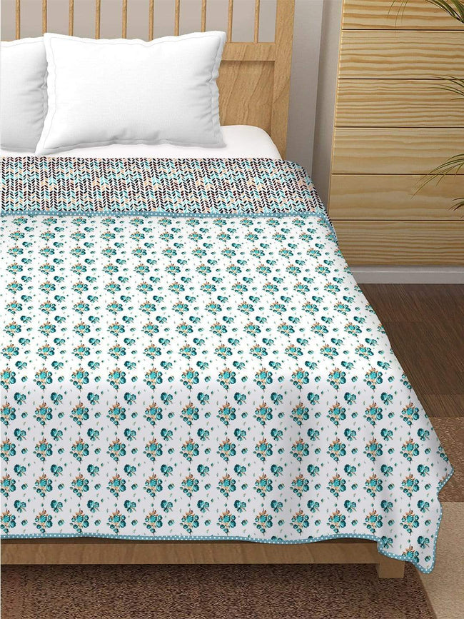 BELLA CASA FASHION Dohar Finland Double Dohar/AC Blanket Reversible Cotton | Size: 228X254 CM