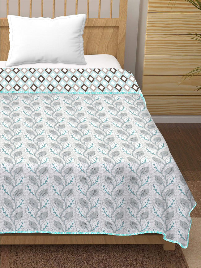 BELLA CASA FASHION Dohar Plume Single Dohar/AC Blanket Reversible Cotton| Size: 152X228CM