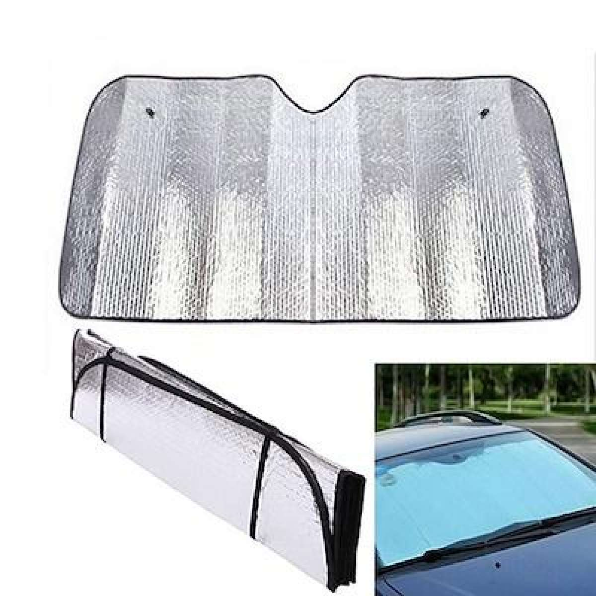 SUN SHADE ALUMINIUM FOIL TYPE FOR CAR WINDSHIELD (UNIVERSAL)