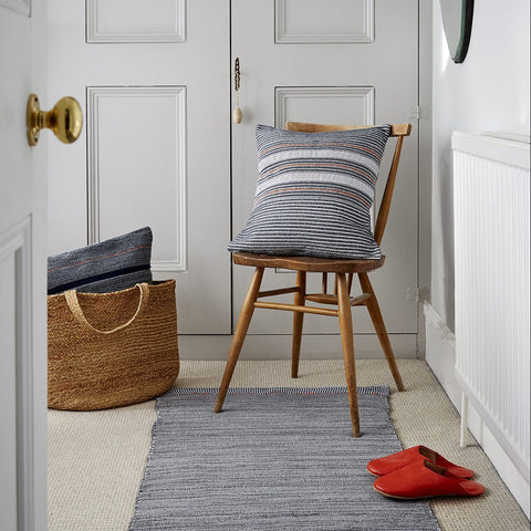 Hall Runner – Navy and White - Love Welcomes