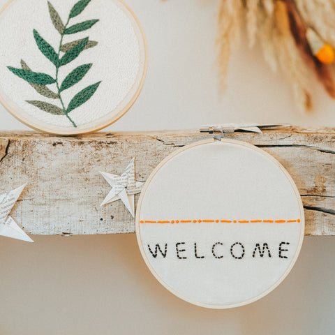 Embroidery Hoop – Welcome