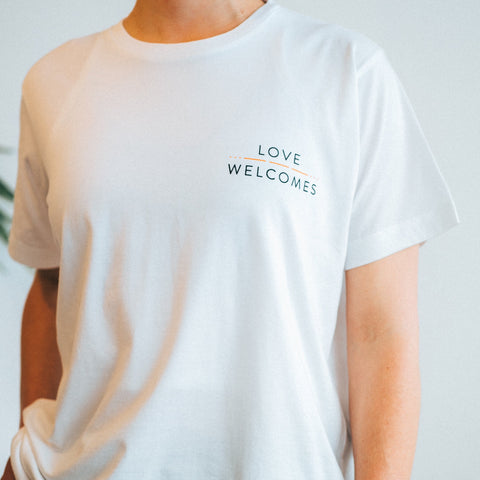 Love Welcomes White Unisex Tee