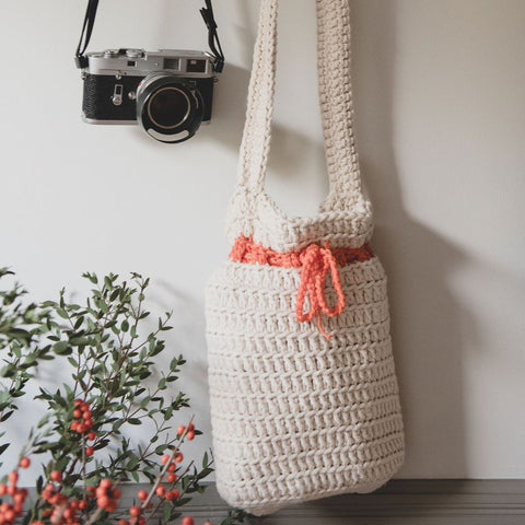 Crocheted Shoulder Bag - Ivory