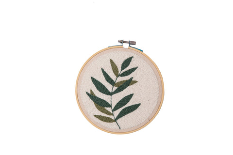 Embroidery Hoop - Olive Leaves