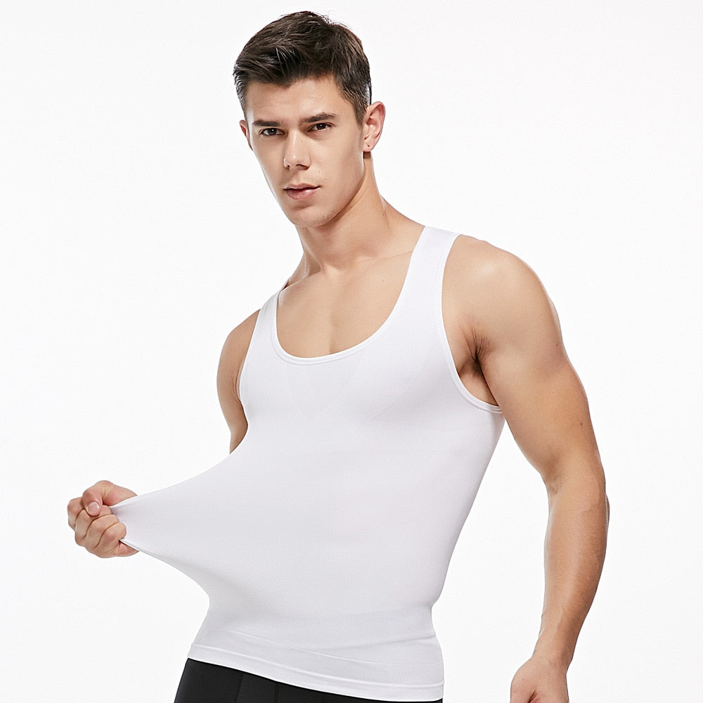 Men Gynecomastia Corset Posture Corrector Tees Slimming Boobs Body Shaper Compression Tops Vest Abdomen Big Belly Reducer
