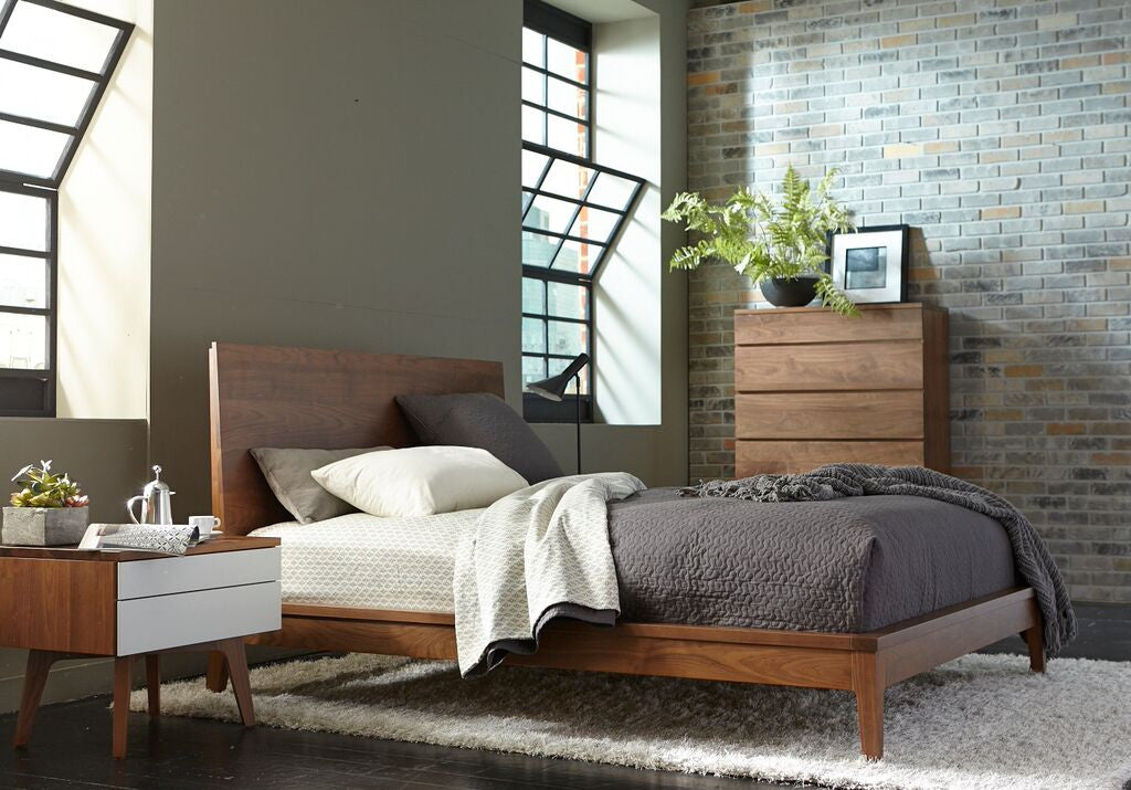 Serra Wood Panel Headboard Bed