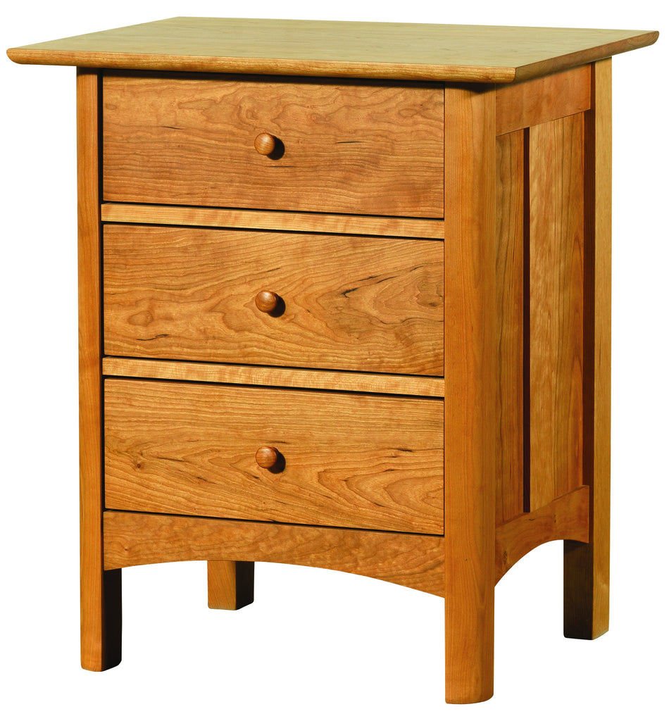 Heartwood & Burlington 3-Drawer Nightstand