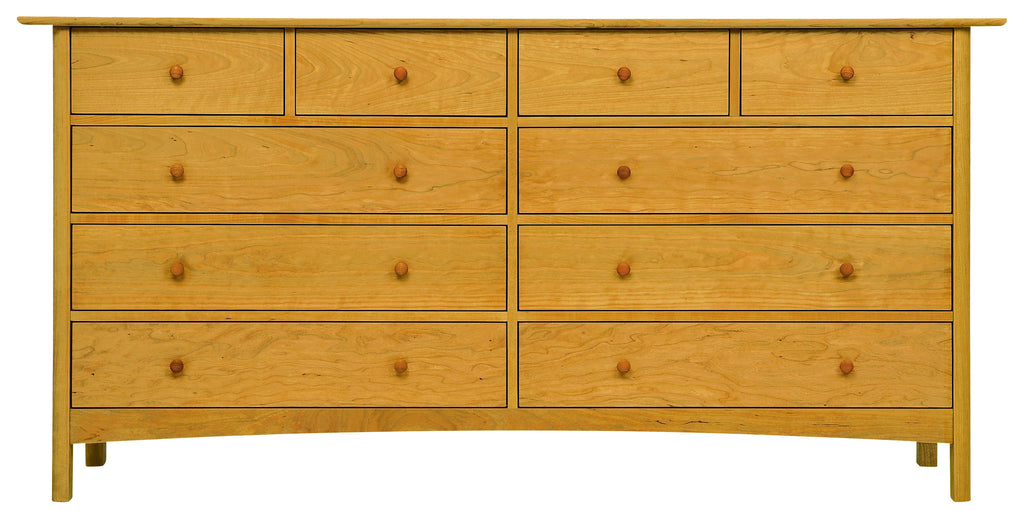 Heartwood & Burlington 10-Drawer Wide Dresser