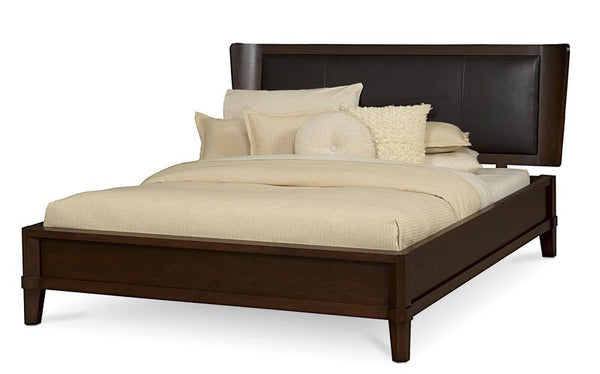 Arris Leather Panel Bed