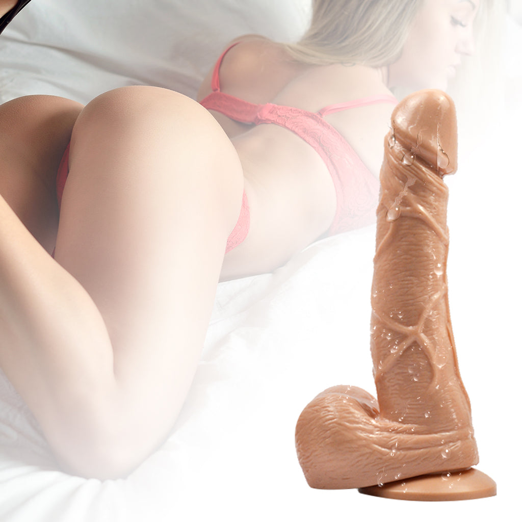 Vibrating Dildo Dong Realistic Penis Cock Suction Cup Adult Gay Women Sex Toy M