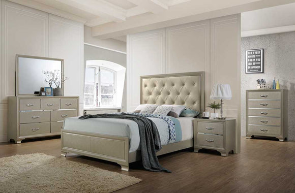 5 Piece Ale Colored Queen Size Bedroom Set