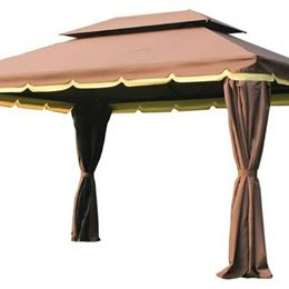 Outdoor Patio Gazebo with Private Curtain