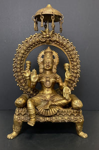 Bronze Goddess Durga Arch Sculpture