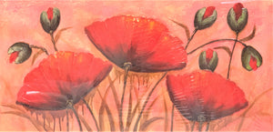 Vibrant Poppies Wall Art Painting