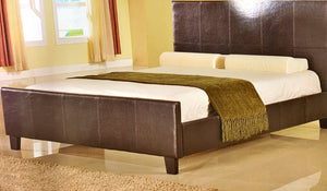 Single Size Black Leather Bed