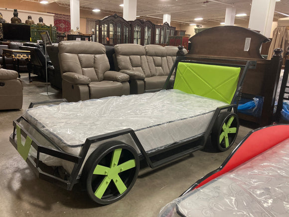 Kids Car Bed (Green)