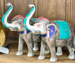 Hand Carved Stonework Elephants