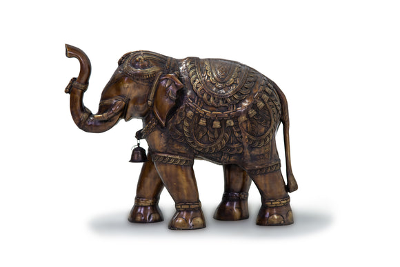 Solid Bronze Elephant with Detailing
