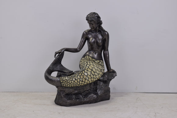 Decorative Mermaid Lamp with Tiffany Glass