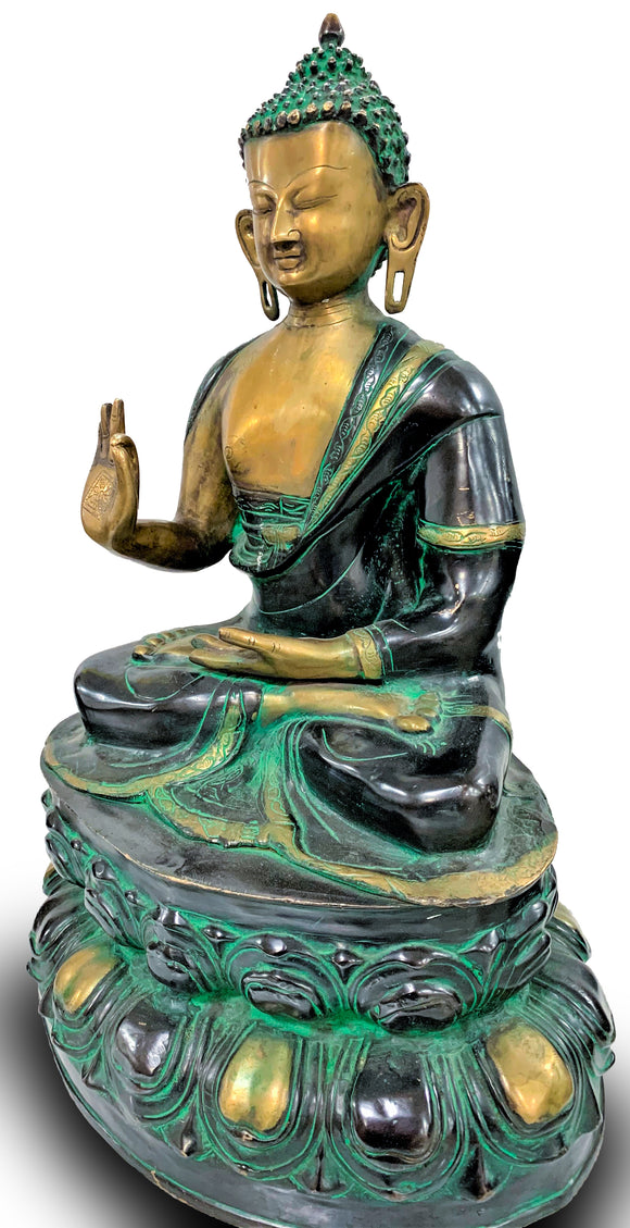 Bronze Sculpture of Meditating Buddha