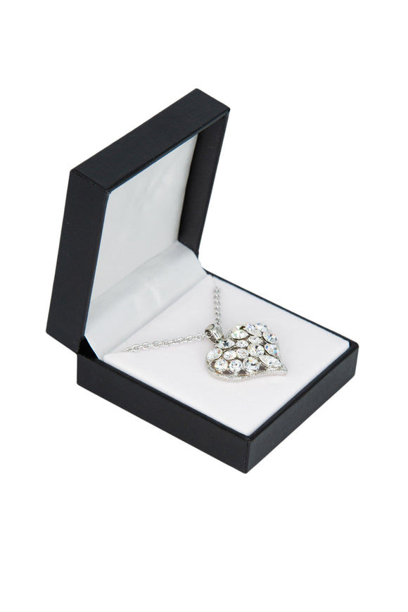 Cubic Zirconia Studded Full Heart Necklace