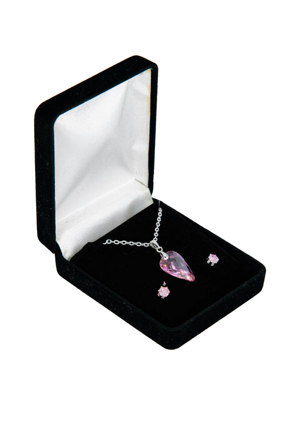 Cubic Zirconia Jewelry Set for Women (Riveting Rose)