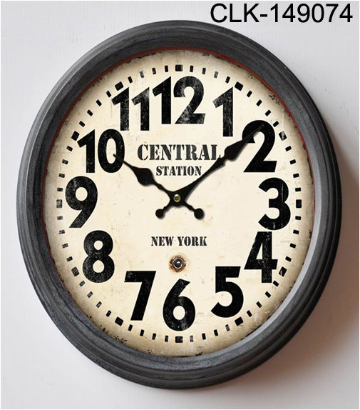 Central Station Round Wall Clock