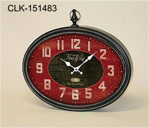 Red Oval Clock