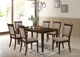 Dining Table with 6 Fabric Chairs