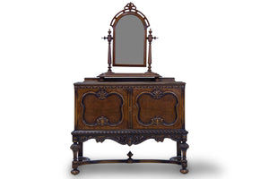 Antique Table With Mirror