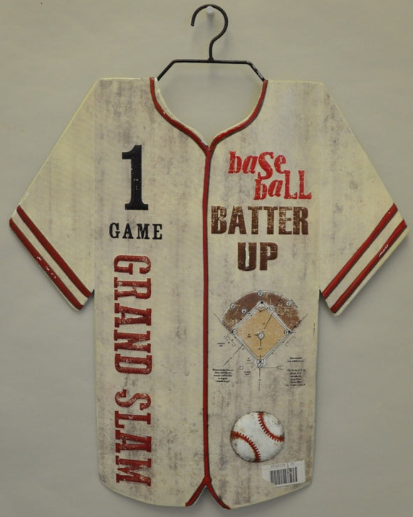 Baseball Jersey Metal Sign