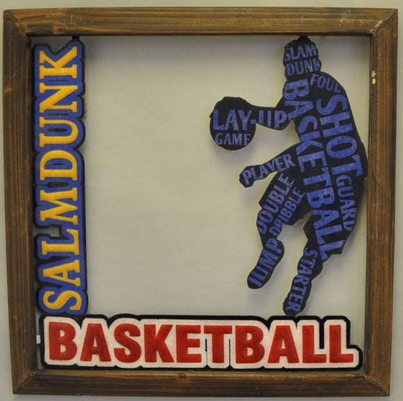 Slam Dunk Basketball Metal Sign