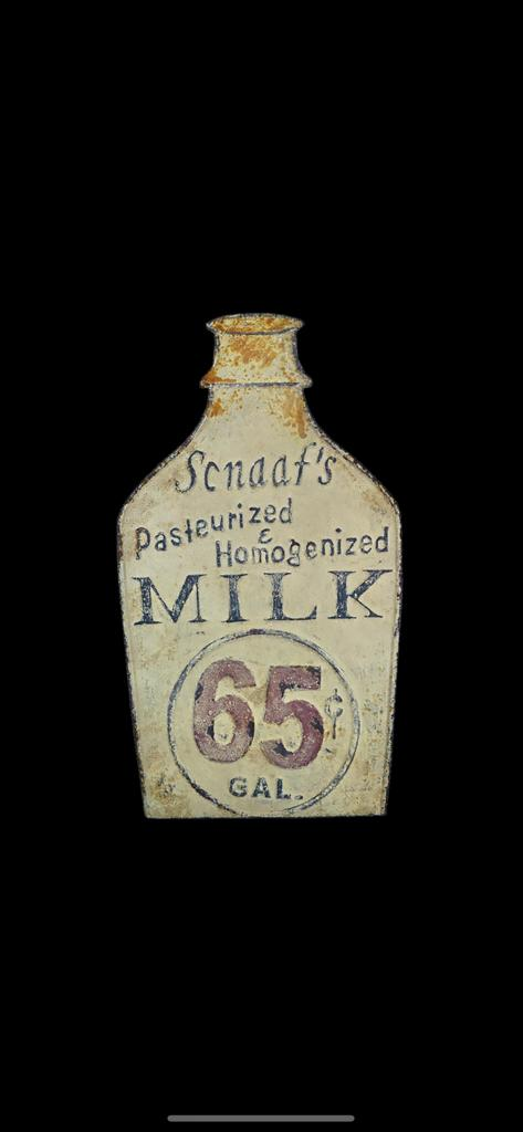 Vintage Milk Bottle Sign