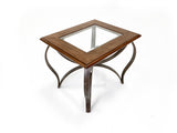 3 Piece Square Coffee Table Set with Glass Top