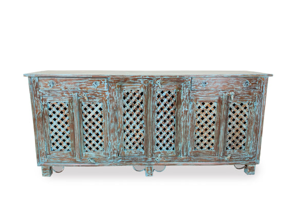 Rich Teak Wood Hutch Table Traditional Style Ancient Piece