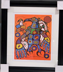 Norval Morrisseau Thunderbird Collage Painting