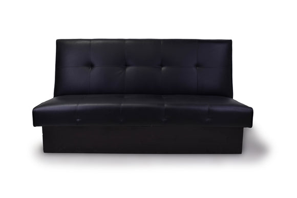 Black Sofa Bed with High Back
