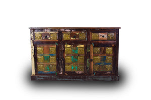 Elephant Multicolor Sideboard Table