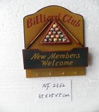 Billiards Club Sign