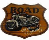 America's Highway Wooden Wall Plaque