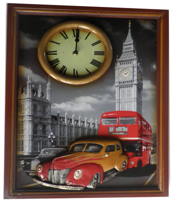 Big Ben Wooden Wall Plaque With Clock