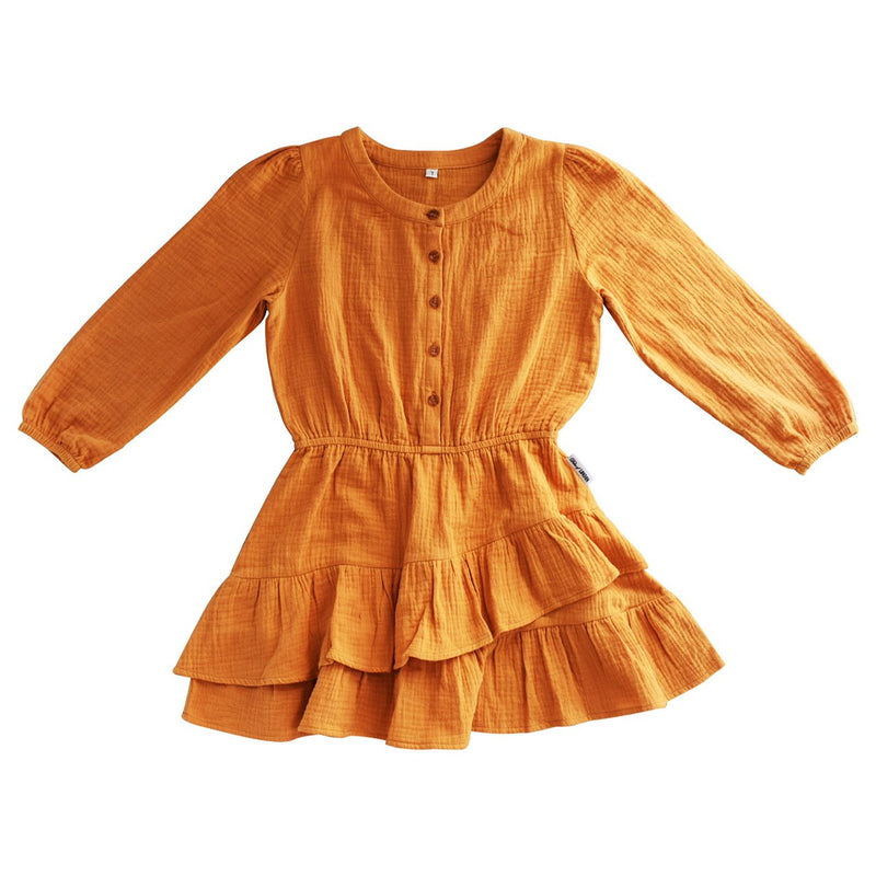 Duke of London Boho Dress in Mustard