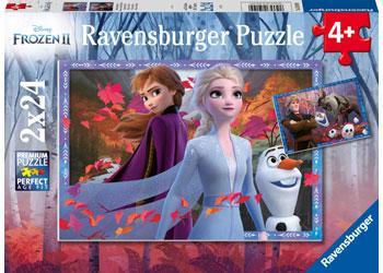 Ravensburger Puzzles Frozen 2 Frosty Adventures  2 x 24 Pc   4+
