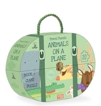 Sassi - Travel Puzzle - Animals on a Plane