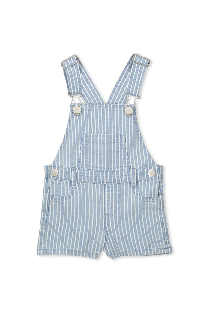 Milky Clothing Denin stripe baby overall in blue